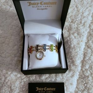NWT Juicy Couture Charm Bracelet Watch